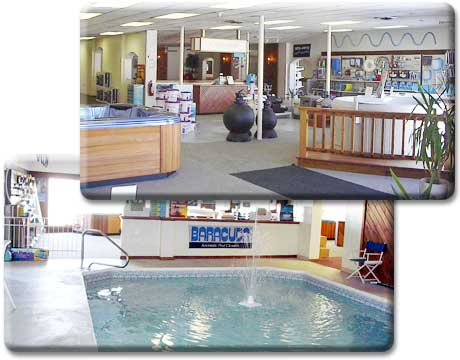 Our showroom adirondack pools service inc for Pool showrooms
