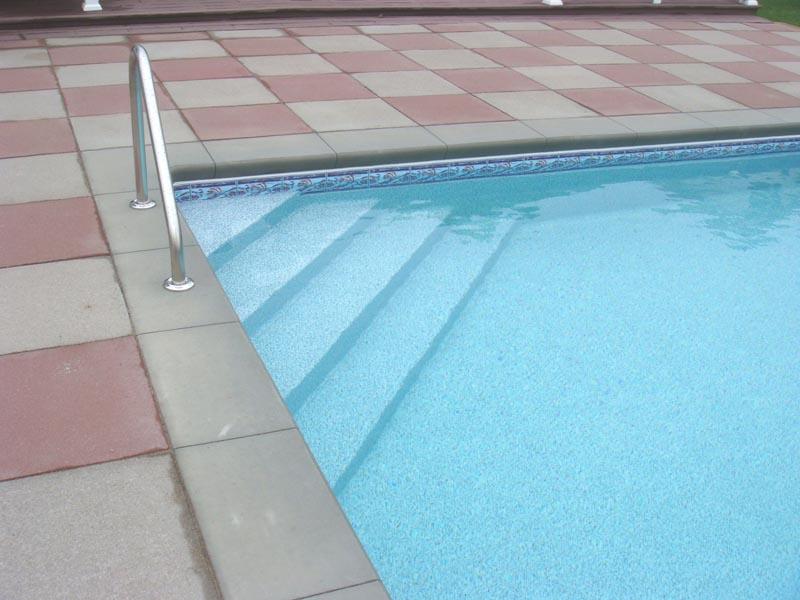 Inground Pool Stairs. Inside Corner Stair   Concrete/Vinyl