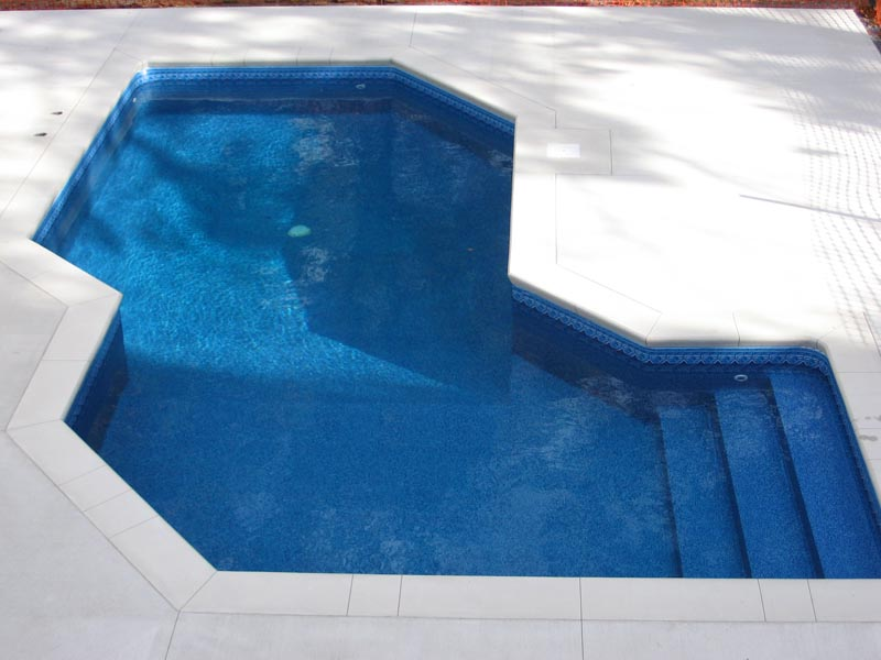 Vinyl Covered Inground Pool Stair - Hudson Falls