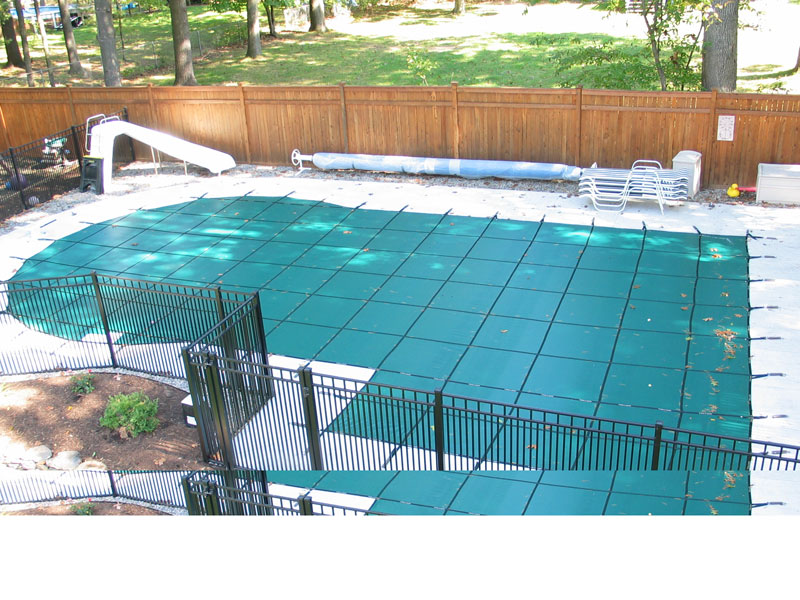 Custom Monaco Mesh Safety Cover - Saratoga Springs