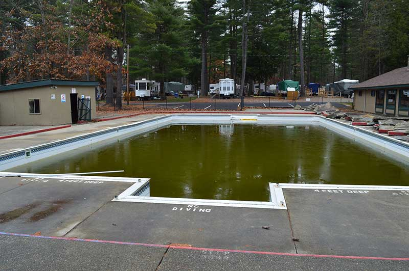 Before Construction on the Adirondack Gateway Pool