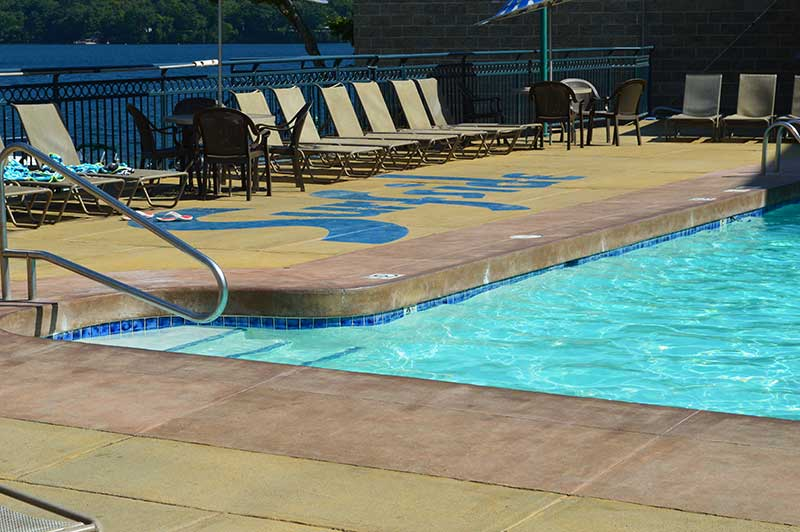 Motel Pool in Lake George
