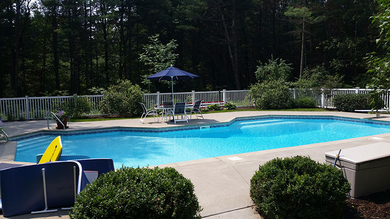 Custom Grecian pool in Queensbury