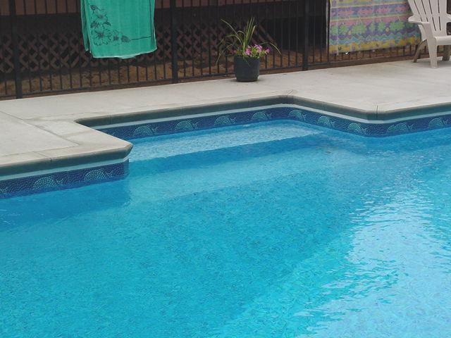 Inground Pool Bench - Greenfield Center