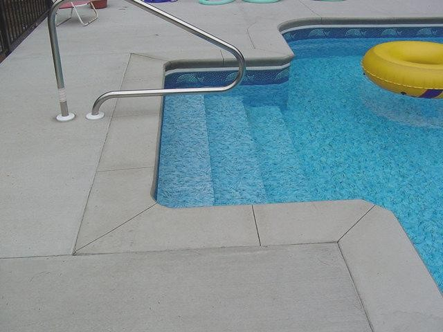 Vinyl Covered Inground Pool Stair - Greenfield Center